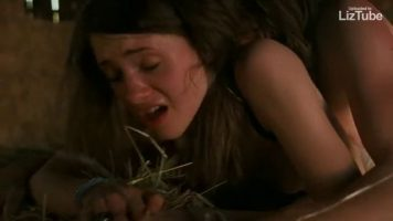 Natalia Dyer fucked hard from behind brutal rape