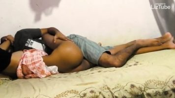 Sri Lanka Romantic couple make love on hidden camera