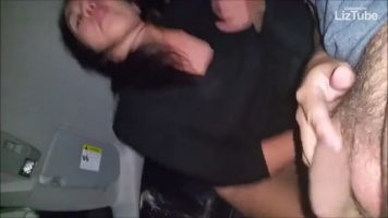 JACQUELINE sucking and riding inside the car (720p)